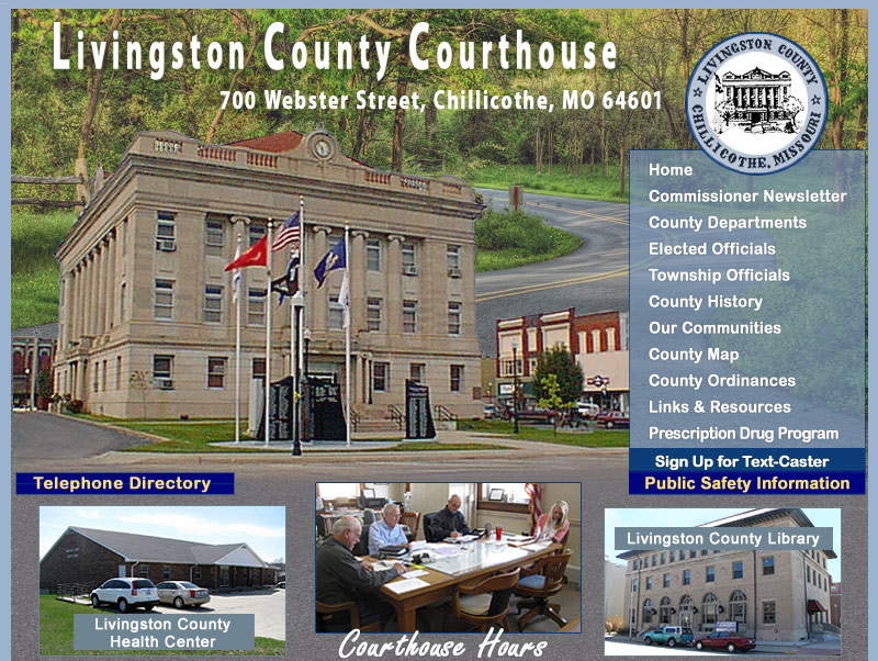 Livingston County Missouri Online... Chillicothe is our county seat!